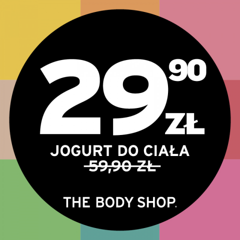 JOGURTY DO CIAŁA OD THE BODY SHOP ZA 29.90 ZŁ.
