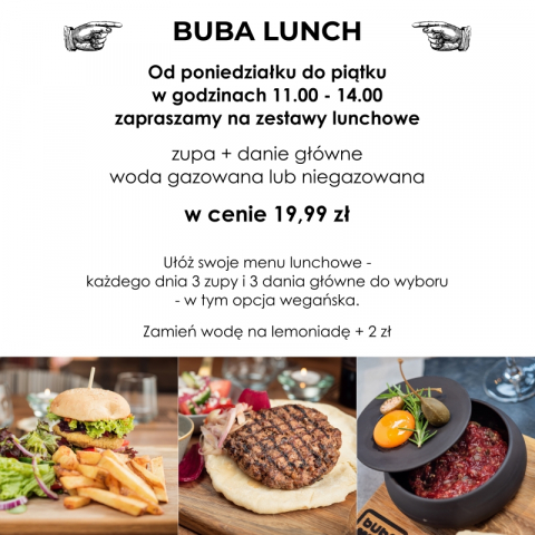 LUNCH W BUBIE 19,99 ZL